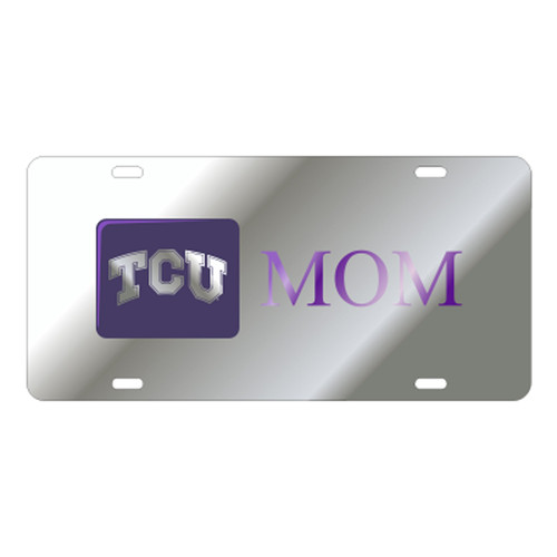 Texas Christian (TCU) TAG (LASER SIL/PUR TCU MOM TAG (22885))