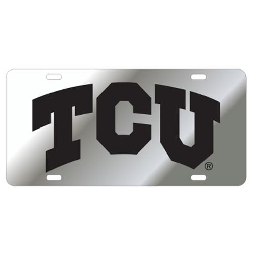 Texas Christian (TCU) TAG (LASER SIL/BLK TCU TAG (22808))