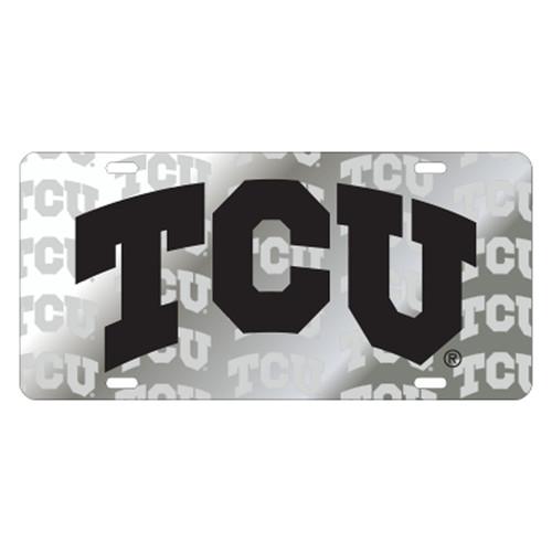 Texas Christian (TCU) TAG (LASER TCU SATIN SYMBOL BK TAG (22853))