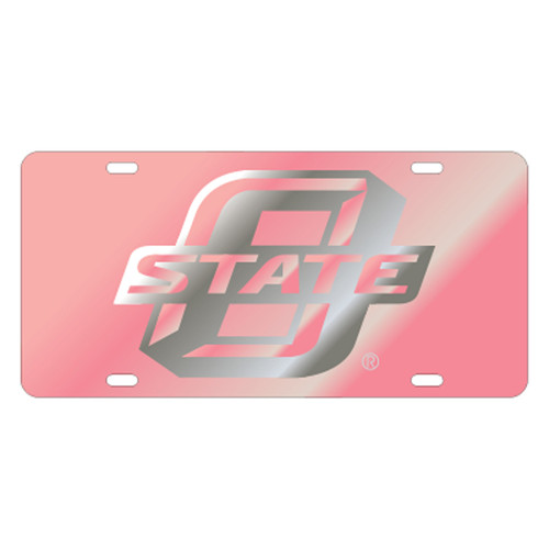 Oklahoma State TAG (LASER PINK/SIL OSTATE TAG (21587))