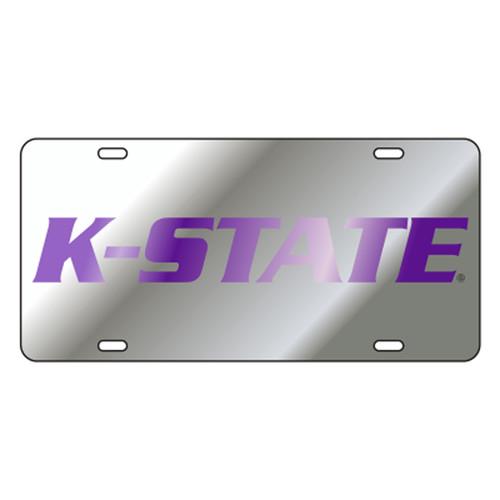Kansas State TAG (LASER SILVER PURPLE K-STATE (21059))