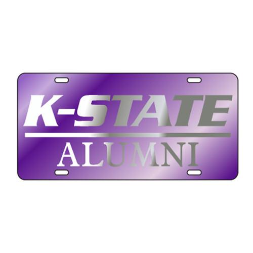 Kansas State TAG (LASER PUR/SIL K-STATE ALUMNI (21088))