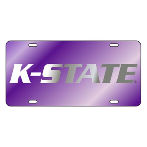 Kansas State TAG (LASER PURPLE SILVER K-STATE (21061))