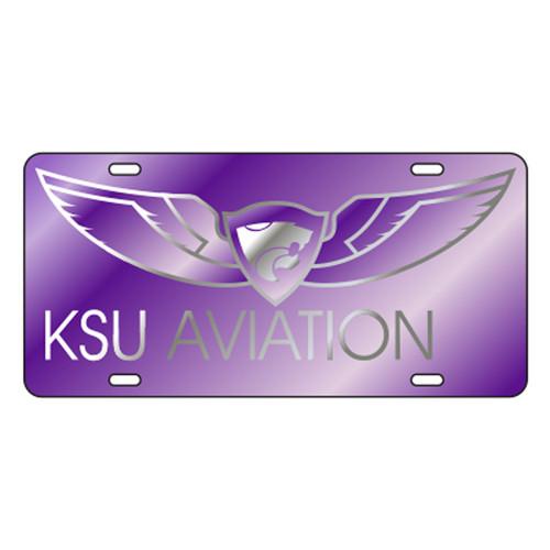 Kansas State TAG (LASER PUR/SIL KSU AVIATION (21093))
