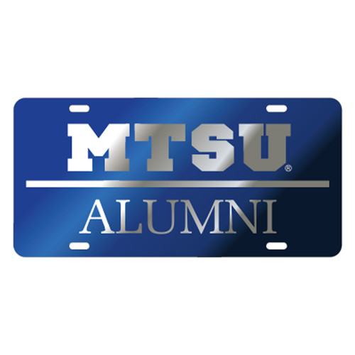 Middle Tennessee TAG (LASER BLUE/SIL MTSU ALUMNI TAG (20567))