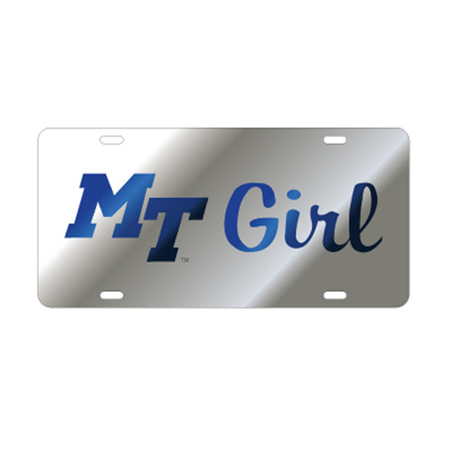 Middle Tennessee TAG (LASER SIL/BLU MT GIRL TAG (20827))
