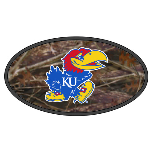 Kansas Hitch Cover (DOMED CAMOUFLAGE JAYHAWK HITCH (19116))