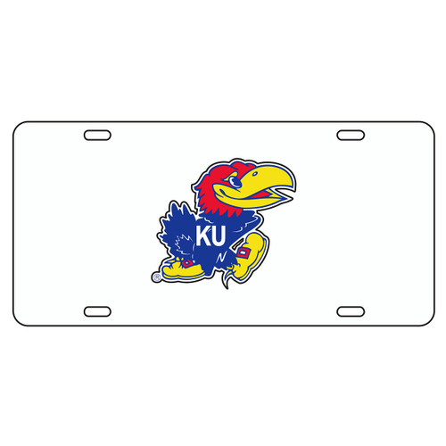 Kansas Tag (WHITE REFL JAYHAWK TAG (19001))