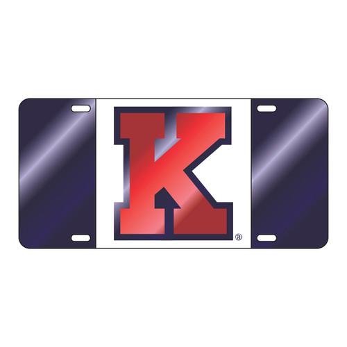 Kansas Tag (LASER KANSAS BLU/WHT/RED K TAG (19113))
