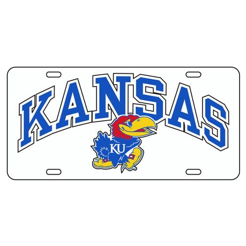 Kansas Tag (WHITE REFL. KANSAS JAYHAWK TAG (19009))