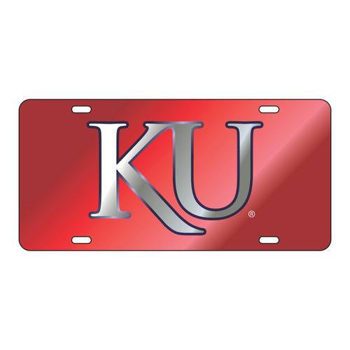 Kansas Tag (LASER RED BLUE OUTLINE SIL KU (19081))