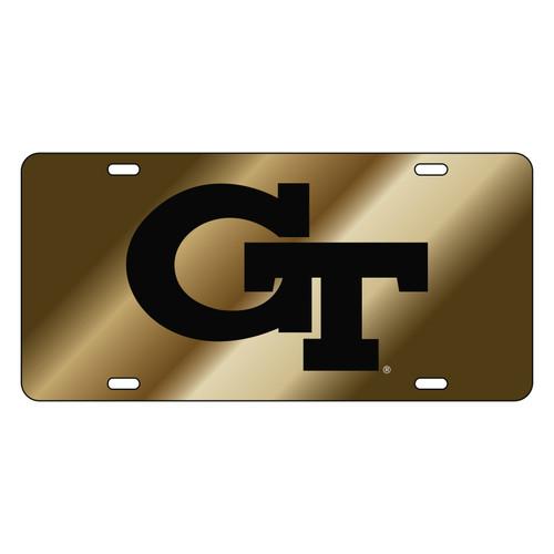 Georgia Tech Tag (LASER GOLD BLACK GT (18018))
