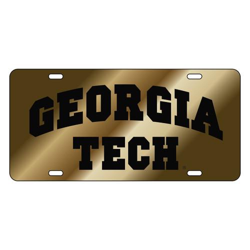 Georgia Tech Tag (LASER GOLD BLACK GA TECH (18020))