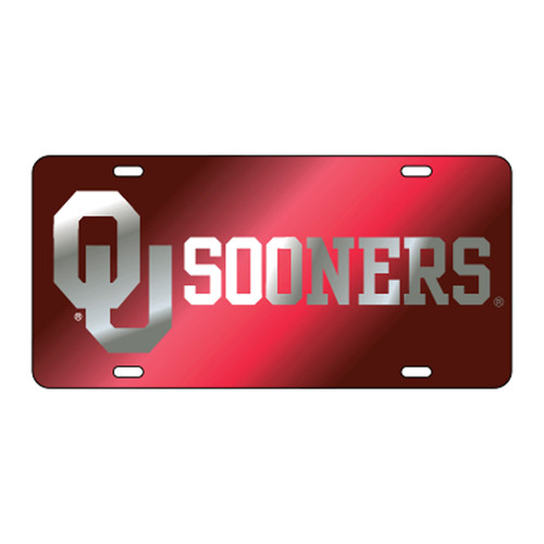 Oklahoma TAG (LASER RED/SIL OU SOONERS (17513))