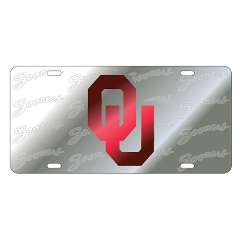 Oklahoma TAG (LASER OU SYMBOL BACK SATIN TAG (17553))
