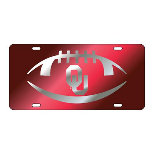 Oklahoma TAG (LASER RED/SIL OU FOOTBALL (17540))
