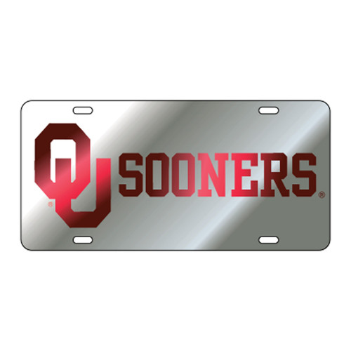 Oklahoma TAG (LASER SIL/RED OU SOONERS (17512))