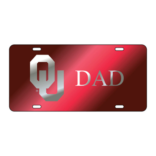 Oklahoma TAG (LASER RED/SIL OU DAD (17535))
