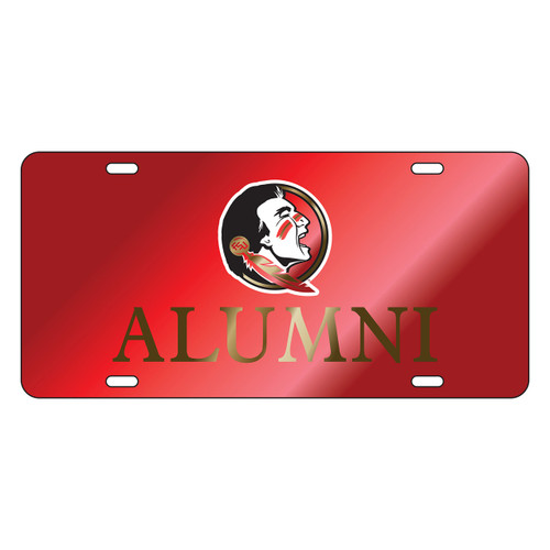 Florida State Seminoles Tag (LASER RED SEMINOLE ALUMNI TAG (17254))