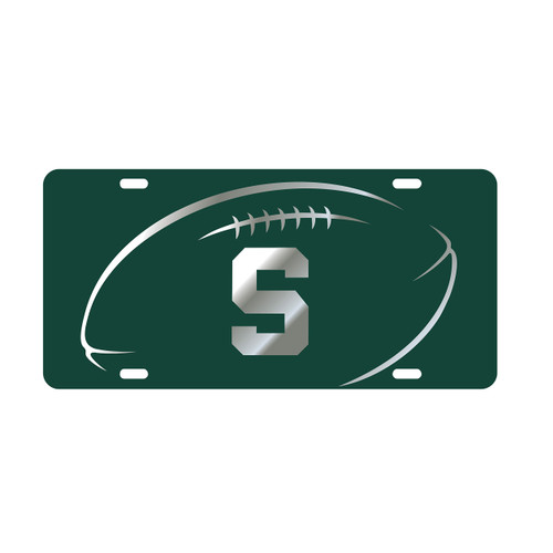 Michigan State Tag (LASER GRN/SIL S FB GRIP TAG (16598))