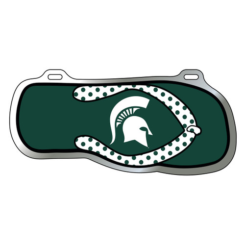 Michigan State Tag (SPARTAN HEAD FLIP FLOP TAG (16599))