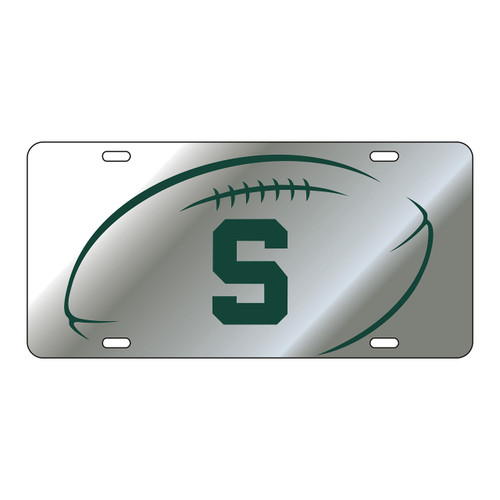 Michigan State Tag (LASER SIL/GRN S FB GRIP TAG (16597))