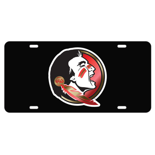Florida State Seminoles Tag (LASER BLACK SEMINOLE HEAD (17112))