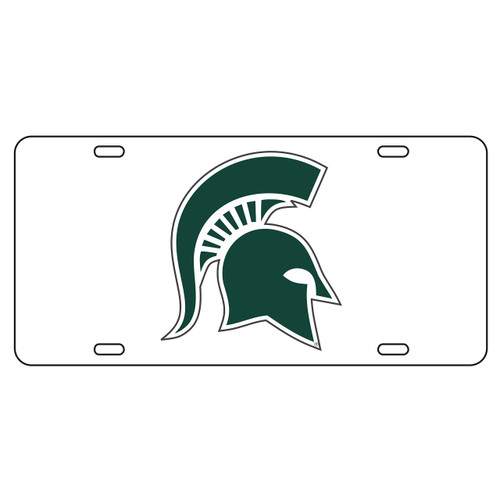 Michigan State Tag (WHT/REF SPARTAN HEAD TAG (16500))