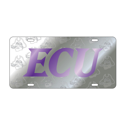 East Carolina Pirates Tag (LASER ECU PIRATE SATIN SYM TAG (16074))