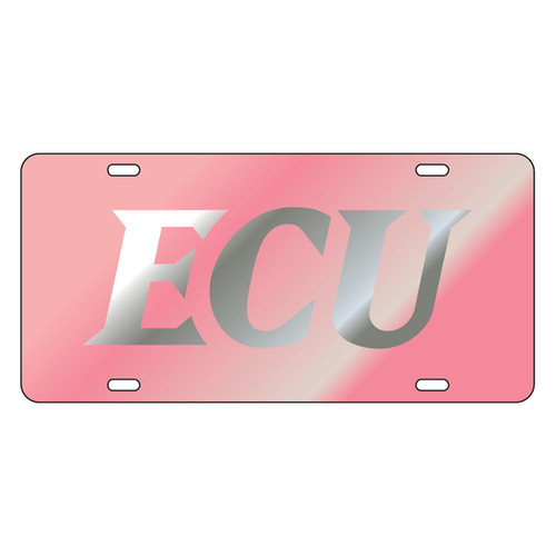 East Carolina Pirates Tag (LASER PINK/SIL ECU TAG (16082))