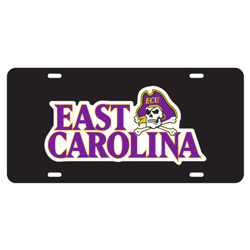 East Carolina Pirates Tag (BLK/REF EAST CAROLINA UNIV TAG (16003))