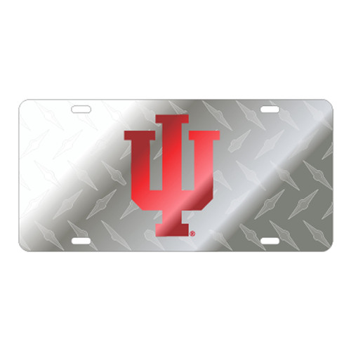 Indiana TAG (LASER SIL/RED IU SATIN SYMBOL (15636))