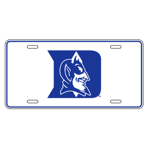 Duke Blue Devils TAG (WHT/BLU D DEVIL METAL TAG (15259))