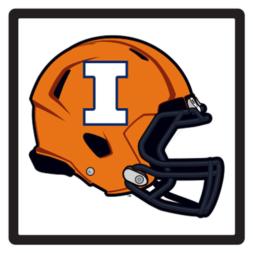 Illinois HitchCover (DOMED ILLINOIS HELMET HITCH (14648))