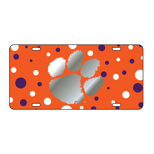 Clemson Tigers Tag (Tiger Dots with Mirror Logo (14253))