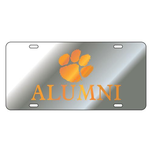 Clemson Tigers Tag (Mirror Acrylic with Orange Mirror Acrylic Logo (14226))