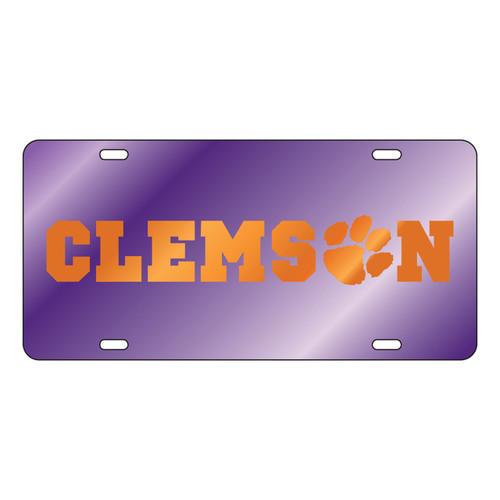 Clemson Tigers Tag (LASER PUR MIRROR ORG CLEMSON (14052))