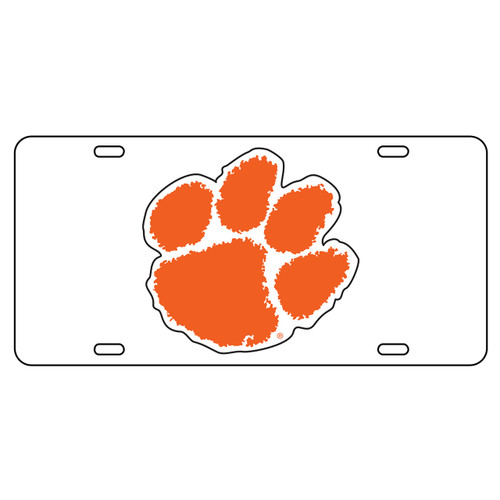 Clemson Tigers Tag (WHITE/REF ORG PAW TAG (14001))