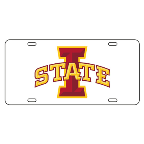 Iowa State TAG (WHT/REF I-STATE TAG (13562))