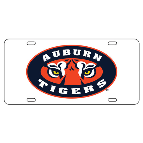 Auburn Tigers TAG (WHT/REF AUBURN TIGER EYES TAG (12025))