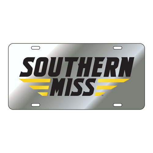 Southern Mississippi Tag (LASER SIL/BLK SOUTHERN MISS (11801))
