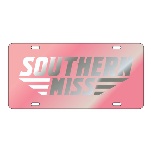 Southern Mississippi Tag (LASER PINK/SIL SOUTHERN MISS (11866))