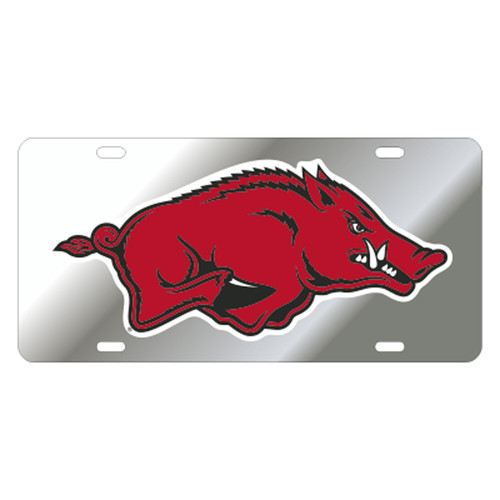 Arkansas Razorbacks TAG (SIL/REF RED RUNNING HOG TAG (11002))