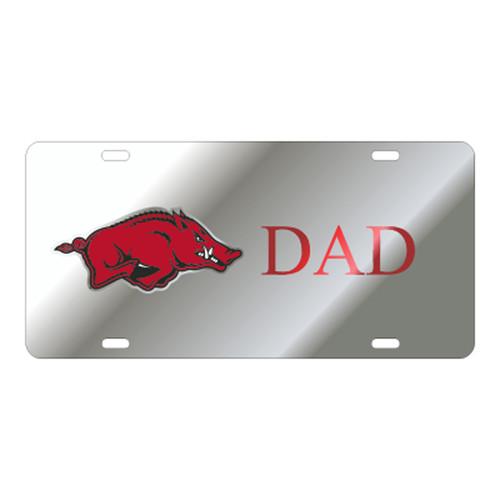 Arkansas Razorbacks TAG (LASER SIL RUNNING HOG DAD (11185))