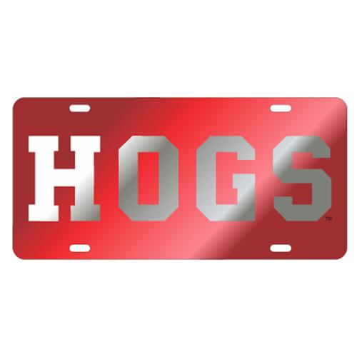 Arkansas Razorbacks TAG (LASER RED/SIL HOGS (11022))