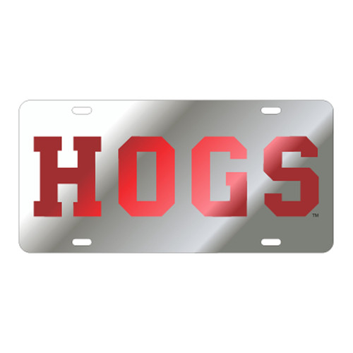 Arkansas Razorbacks TAG (LASER SIL/RED HOGS (11023))