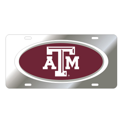 Texas A&M University Tags (Mirror Acrylic with Domed Logo (10241))