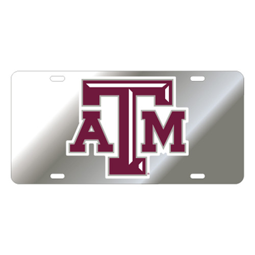 Texas A&M University Tags (Mirror Acrylic with Reflective Logo Decal (10209))