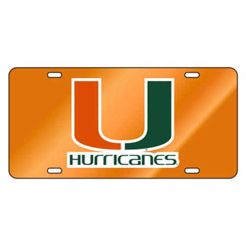 Miami TAG (REF ORG/ORG/GRN U HURRICANES (23513))
