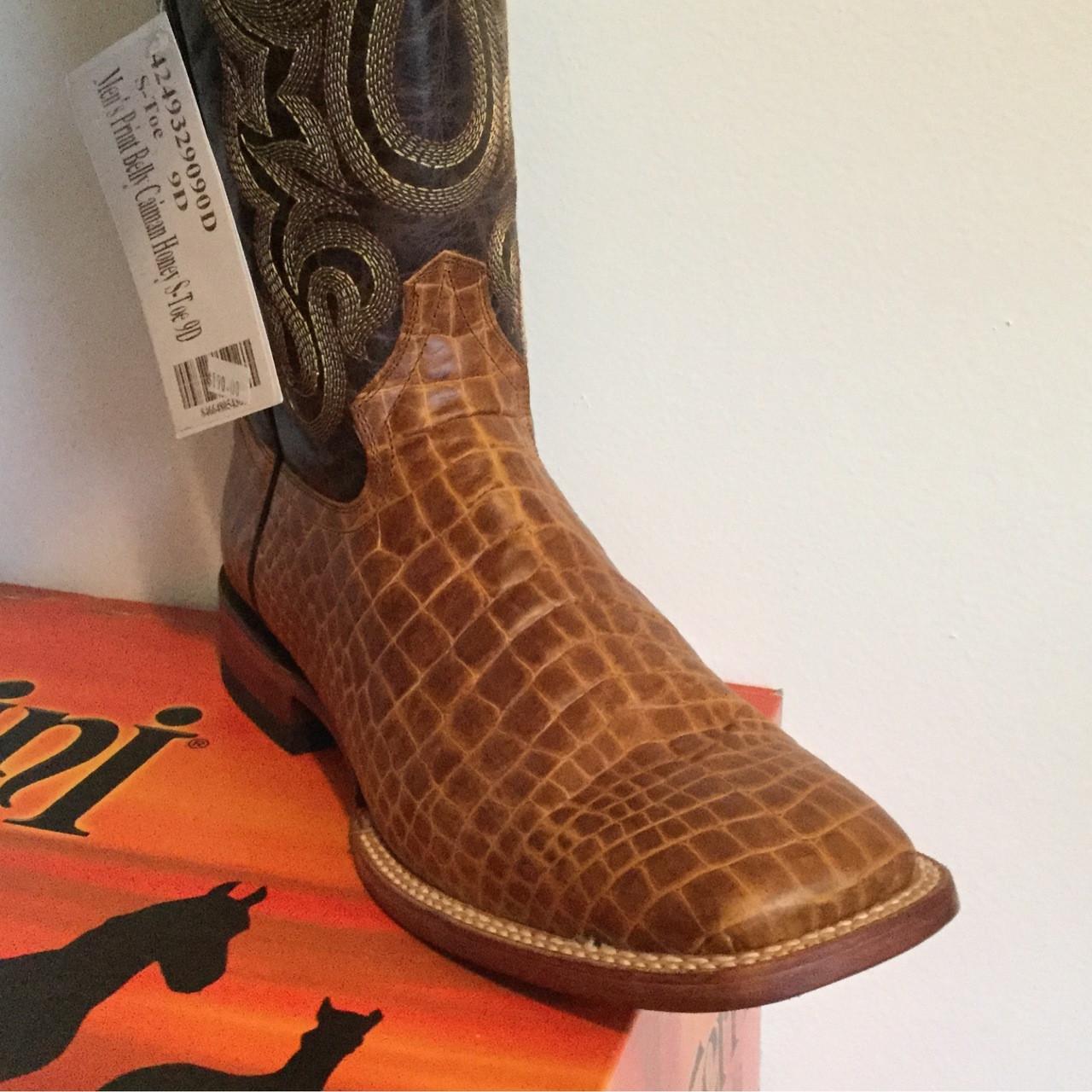 5dd59b1b8b8 Ferrini Print Belly Caiman Honey - Men's Cowboy Boot